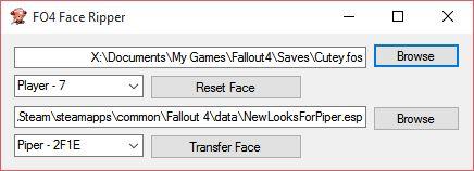 Face Ripper v 34 для Fallout 4