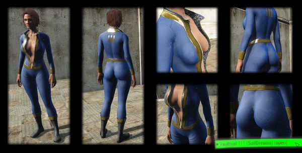 SuitDreams - Sexy Female Clothes pack CBBE для Fallout 4