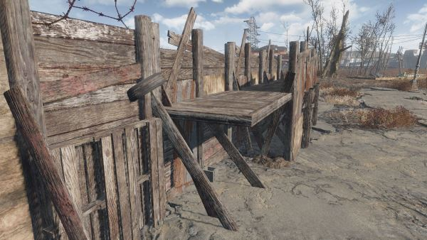 Snapable Junk Fences для Fallout 4