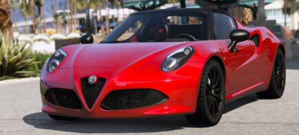 Alfa Romeo 4c Spider для GTA 5