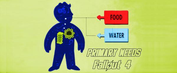 Primary Needs - Потребности в еде и воде для Fallout 4