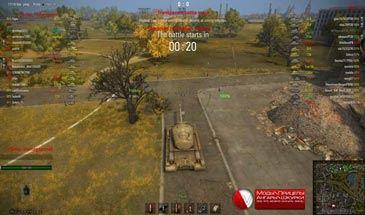 Новый прозрачный интерфейс в бою для World of Tanks 0.9.16