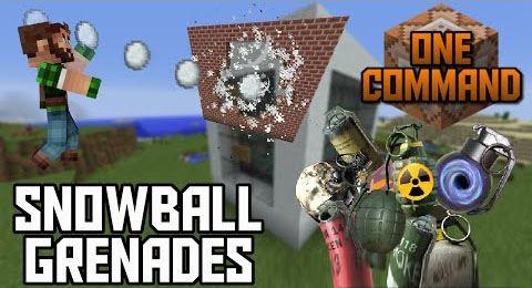 Snowball Grenades для Minecraft 1.9