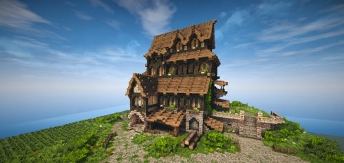 Medieval House - Skyrim Inspiration для Майнкрафт 1.8.9