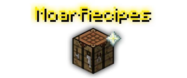 MoarRecipes для Майнкрафт 1.8.9