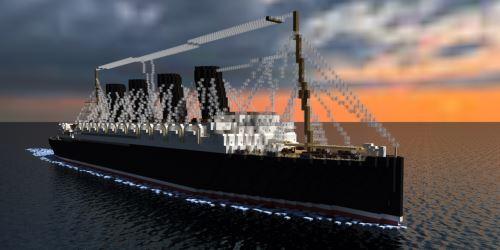 RMS Lusitania для Майнкрафт 1.8.9