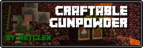 Craftable Gunpowder by Netglex для Майнкрафт 1.8