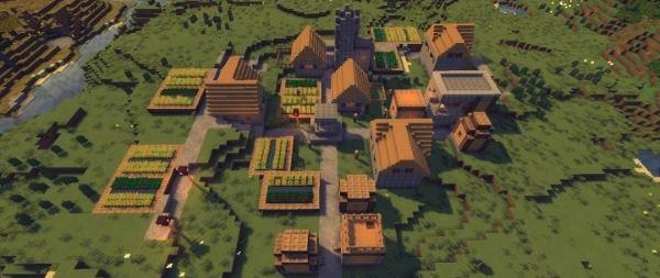 Большая деревня и биом из глины для Майнкрафт 1.8