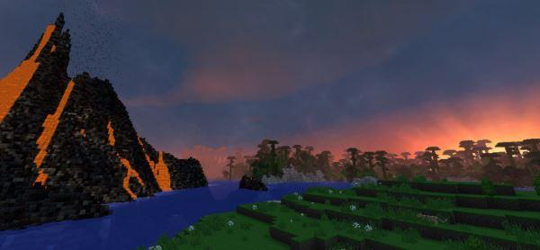 Tropical volcano для Майнкрафт 1.8.9