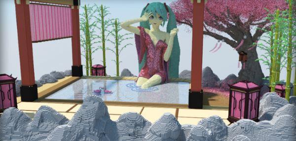 Hatsune Miku - Hot Spring для Майнкрафт 1.8.9