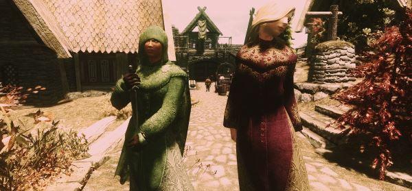Velvet Robes and Cloaks / Коллекция бархатных роб и плащей для TES V: Skyrim