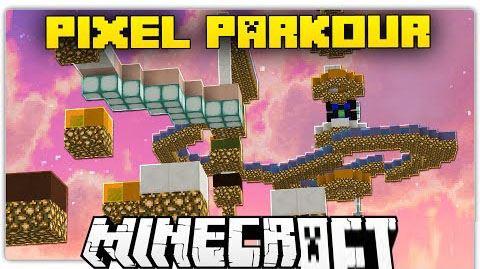 Pixel Parkour для Майнкрафт 1.8.9