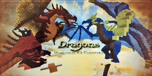 Dragons Merceron And Perinthus для Майнкрафт 1.8.8