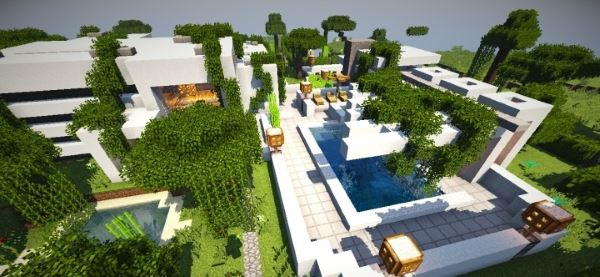 Modern C-Deggre House для Minecraft 1.8.9