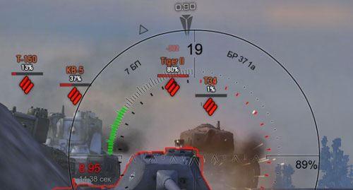 Дамаг индикатор Мини хищник от Dikey93 для World of Tanks