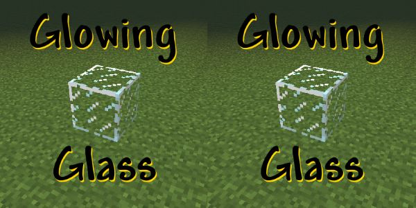 Glowing Glass для Minecraft 1.7.10