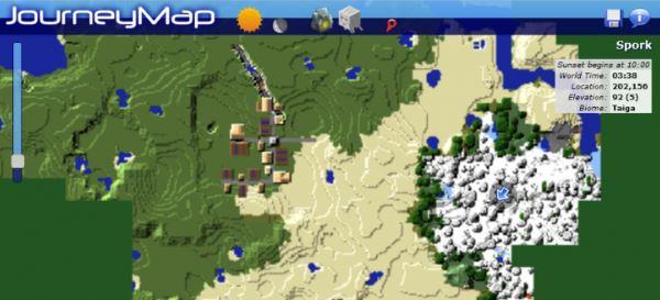 JourneyMap для Minecraft 1.9