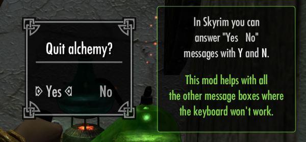 Better MessageBox Controls / Улучшенное управление всплывающими окнами для TES V: Skyrim