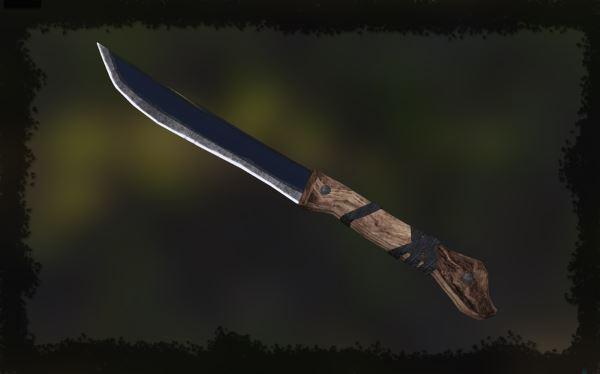 Нож из обсидиана от aksyonov v 5.1 для TES V: Skyrim
