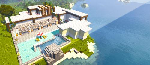 Redstone Modern House для Minecraft 1.9.2
