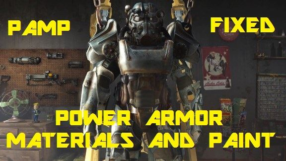 PAMP - Power Armor Materials and Paints FIXED для Fallout 4