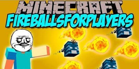 FireBalls For Players для Minecraft 1.8