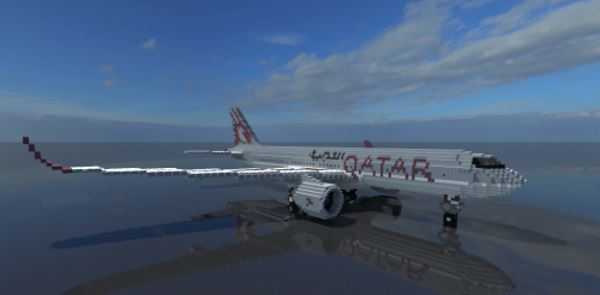 Airbus A350 для Minecraft 1.9.2