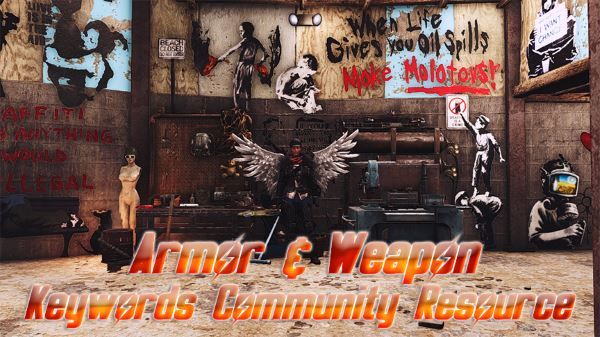 Armor and Weapon Keywords Community Resource v 3.0.9 для Fallout 4
