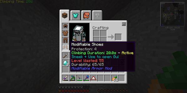 Modifiable Armor для Minecraft 1.8