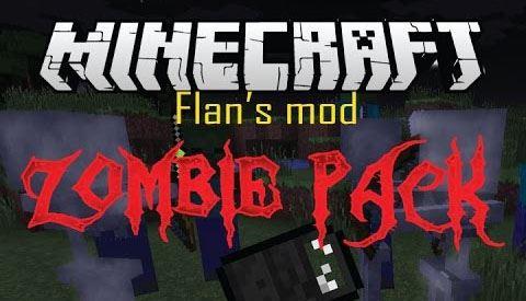 Flan's Zombie Pack для Minecraft 1.8