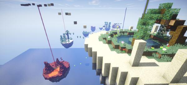 Parkour Paradise: Sky Islands для Minecraft 1.9.2