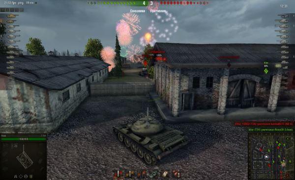 Мод фейерверков при уничтожении танков для World of Tanks 0.9.16