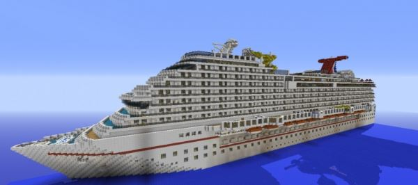 Carnival Breeze Cruise Ship для Minecraft 1.8.9