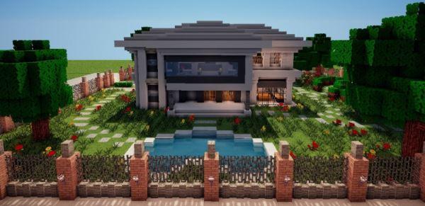 Modern House для Minecraft 1.8