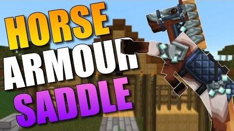 Craftable Horse Armour and Saddle для Minecraft 1.9