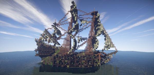Flying Dutchman Pirates of the carribean для Minecraft 1.8