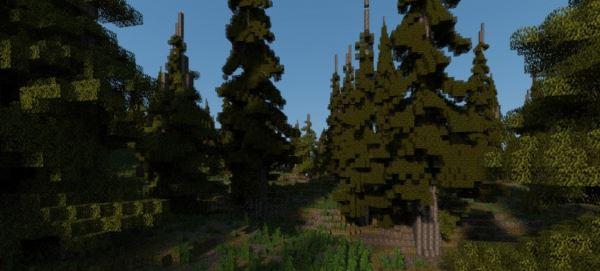 Pine island для Minecraft 1.8