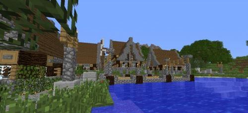 Elderwood / Medieval Village для Minecraft 1.8