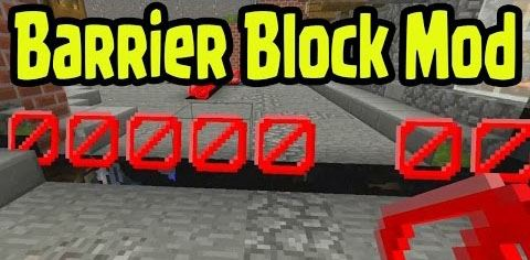 Craftable Barrier Block для Minecraft 1.8