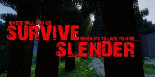 Survive Slender для Minecraft 1.8.3