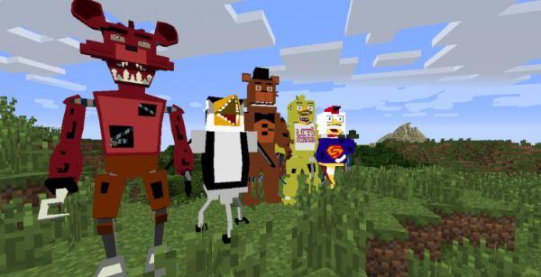 Five Nights at Freddy's Realistic Models для Minecraft 1.7.10