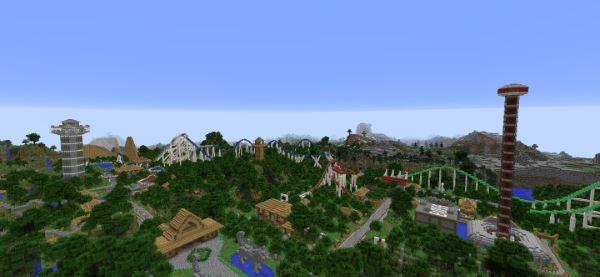 Rollercoaster Park для Minecraft 1.9.4