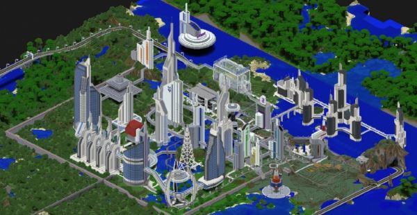 Future CITY 2.1 для Minecraft 1.8