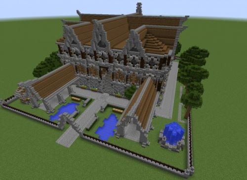 Medieval Mansion для Minecraft 1.8