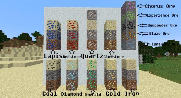 Sandy Ores для Minecraft 1.9