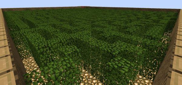 Leaf Maze для Minecraft 1.8