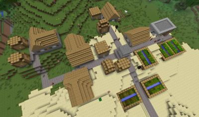 Деревня с каньоном для Minecraft 1.9.4