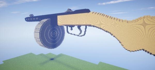 Pistol - submachine gun Shpagin для Minecraft 1.8
