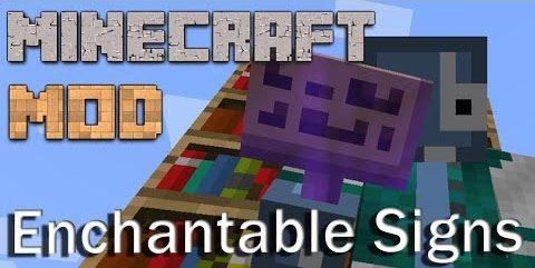 Enchantable Signs для Minecraft 1.8