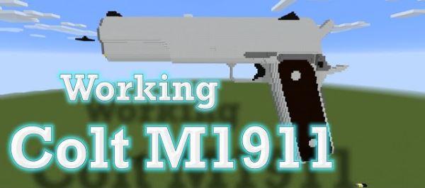 Working Colt M1911 для Minecraft 1.8.9